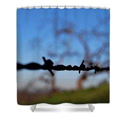 Shower Curtain featuring the photograph Rusty Gate Rural Tree by Matt Harang