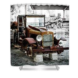 Rusty International Truck Shower Curtain