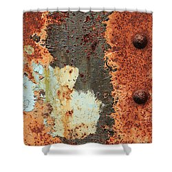 Rusty Layers Shower Curtain