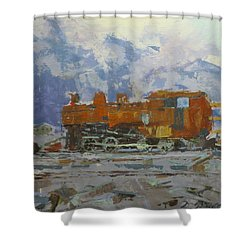Rusty Loco Shower Curtain