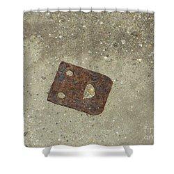 Rusty Metal Hinge Smiley Shower Curtain
