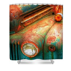 Rusty Old Ford Shower Curtain