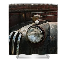Shower Curtain featuring the photograph Rusty Old Headlight  by Kim Hojnacki