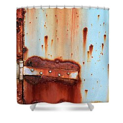 Shower Curtain featuring the photograph Rusty Outbuilding by Art Block Collections