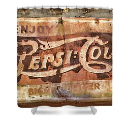 Rusty Pepsi Cola Shower Curtain