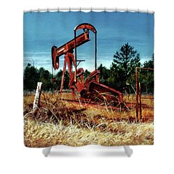 Rusty Pump Jack Shower Curtain