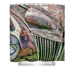 Rusty Road Warrior Shower Curtain