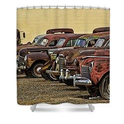 Rusty Row Shower Curtain