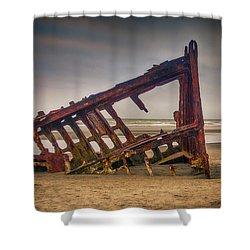 Rusty Shipwreck Shower Curtain by Garry Gay