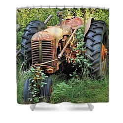 Rusty Tractor 3  Shower Curtain
