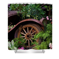 Rusty Truck In The Garden Shower Curtain