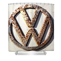 Vintage Vw Sign Shower Curtain