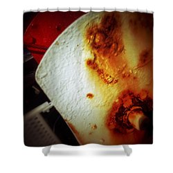 Shower Curtain featuring the photograph Rusty Winch by Olivier Calas
