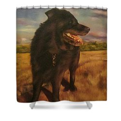 Ruudi Shower Curtain by Cherise Foster