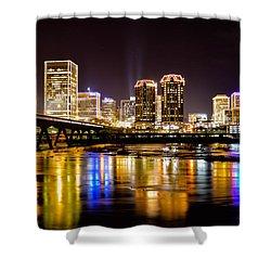 Rva Holiday Skyline 3 Shower Curtain