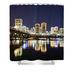 Rva Night Lights Shower Curtain