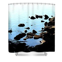 Rver Rocks Shower Curtain