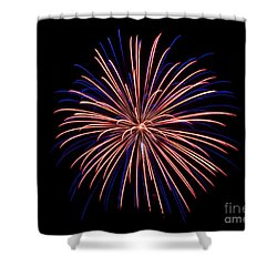 Rvr Fireworks 48 Shower Curtain by Mark Dodd