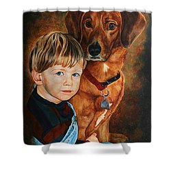 Ryan And Moses Shower Curtain