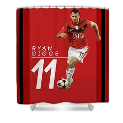 Ryan Giggs Shower Curtain