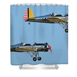 Ryan Pt-22 N48777 146 And Pt-22 N48742 269 Chino California April 29 2016 Shower Curtain by Brian Lockett