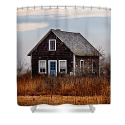 Rye Beach Shack Shower Curtain