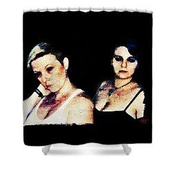 Ryli And Alex 1 Shower Curtain by Mark Baranowski