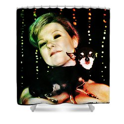 Ryli And Chi-chi 2 Shower Curtain by Mark Baranowski