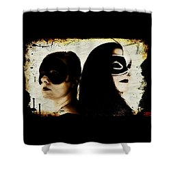 Shower Curtain featuring the digital art Ryli And Corinne 1 by Mark Baranowski