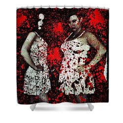 Shower Curtain featuring the digital art Ryli And Corinne 2 by Mark Baranowski