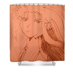 Ryoko Shower Curtain by April Patterson
