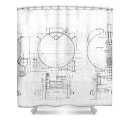 S-1a Cross Sections Shower Curtain