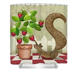 S Is For Squirrel Shower Curtain