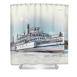 Shower Curtain featuring the photograph S. S. Sicamous II by John Poon