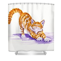 S-t-r-e-t-c-h Shower Curtain by Debra Hall