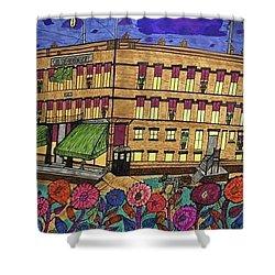 Shower Curtain featuring the painting S.m Stephenson Hotel by Jonathon Hansen