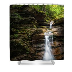 Sabbaday Falls Autumn Shower Curtain by Bill Wakeley