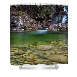 Sabbaday Falls Pool Shower Curtain by Bill Wakeley