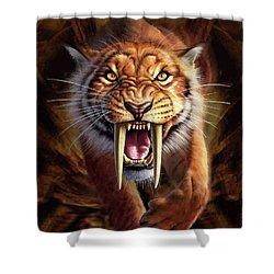 Sabertooth Shower Curtain