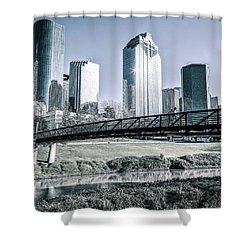 Sabine Promenade Over Buffalo Bayou Shower Curtain