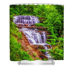 Shower Curtain featuring the photograph Sable Falls by Nick Zelinsky