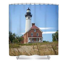 Sable Point Lighthouse Shower Curtain