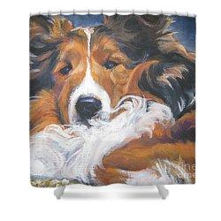 Sable Shetland Sheepdog Shower Curtain by Lee Ann Shepard