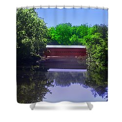 Sachs Covered Bridge In Gettysburg  Shower Curtain by Bill Cannon