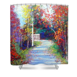 Sackville Walking Trail Shower Curtain by Rae  Smith