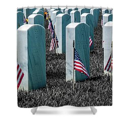 Shower Curtain featuring the photograph Sacramento Valley Veterans Cemetary by Bill Gallagher