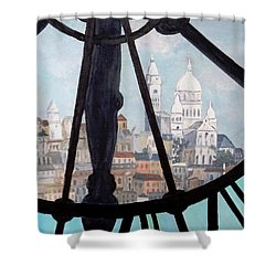 Sacre Coeur From Musee D'orsay Shower Curtain