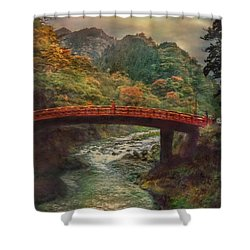 Shower Curtain featuring the photograph Sacred Bridge by Hanny Heim