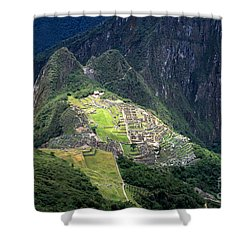 Sacred City Of Machu Picchu Shower Curtain by James Brunker