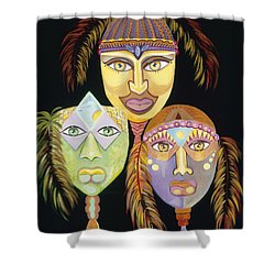 Sacred Feathers Shower Curtain
